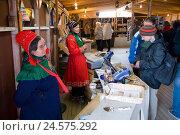 Купить «Norway, Finnmark, semen, souvenir sales,», фото № 24575292, снято 7 октября 2008 г. (c) mauritius images / Фотобанк Лори