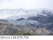 Купить «Switzerland, Valais, Visp, Randa, Weisshorn glacier, glacier rupture, helicopter,», фото № 24575716, снято 28 октября 2008 г. (c) mauritius images / Фотобанк Лори