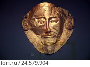 Купить «Greece, Athens, archaeological, national museum, Agamemnon mask, museum, exhibit, tomb furnishing, golden mask, Agamemnon, art, place of interest, museum visit,», фото № 24579904, снято 2 апреля 2008 г. (c) mauritius images / Фотобанк Лори