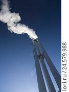 Купить «Chimneys, smoke, heavens, smoke, chimneys, factory chimneys, climate protection, CO2 ejection, industry, air pollution, environmental pollution, dense...», фото № 24579988, снято 7 мая 2008 г. (c) mauritius images / Фотобанк Лори