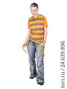 Купить «Aggressive teen walking», фото № 24639896, снято 1 мая 2008 г. (c) Ольга Сапегина / Фотобанк Лори