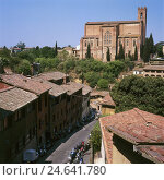 Купить «Italy, Tuscany, Siena, town view, basilica San Domenico, destination, place of interest, town, church, cathedral, church, sacred construction, architecture...», фото № 24641780, снято 26 ноября 2007 г. (c) mauritius images / Фотобанк Лори