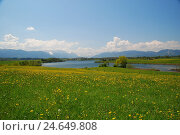 Купить «Germany, Bavaria, Werdenfels, Riegsee, scenery, spring, South Germany, Upper Bavaria, alpine upland, mountains, mountains, heavens, clouds, rurally, width, distance, view, deserted, lake,», фото № 24649808, снято 2 декабря 2008 г. (c) mauritius images / Фотобанк Лори