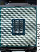 Купить «Современный процессор компьютера», фото № 24667832, снято 11 октября 2016 г. (c) Михаил Коханчиков / Фотобанк Лори
