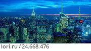 Купить «New York - DECEMBER 20, 2013: View of Lower Manhattan on Decembe», фото № 24668476, снято 20 декабря 2013 г. (c) Elnur / Фотобанк Лори