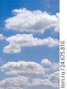 Купить «Cloudy sky, cumulus clouds,», фото № 24675816, снято 1 февраля 2008 г. (c) mauritius images / Фотобанк Лори