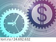 Время и деньги. Концепция успешного бизнеса. Стоковая иллюстрация, иллюстратор elena_a / Фотобанк Лори
