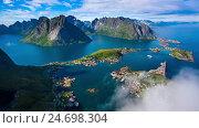Купить «Lofoten archipelago», видеоролик № 24698304, снято 9 декабря 2016 г. (c) Андрей Армягов / Фотобанк Лори