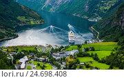 Купить «Geiranger fjord, Norway», видеоролик № 24698408, снято 12 декабря 2016 г. (c) Андрей Армягов / Фотобанк Лори