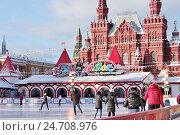 Купить «ГУМ-каток на Красной площади. Зима в Москве», эксклюзивное фото № 24708976, снято 15 декабря 2016 г. (c) Илюхина Наталья / Фотобанк Лори