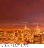Купить «View of New York Manhattan during sunset hours», фото № 24715776, снято 20 декабря 2013 г. (c) Elnur / Фотобанк Лори