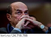 Pierluigi Bersani during the assembly, Rome ITALY-18-12-2016. Редакционное фото, фотограф Armando Dadi / AGF/Armando Dadi / AGF / age Fotostock / Фотобанк Лори