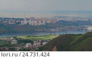 Купить «Scenic view from high mountain Sun City Cityscape», видеоролик № 24731424, снято 14 ноября 2016 г. (c) Илья Насакиин / Фотобанк Лори