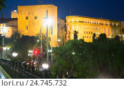 Купить «Palace of Pretori Roma in evening at Tarragona», фото № 24745732, снято 20 мая 2018 г. (c) Яков Филимонов / Фотобанк Лори