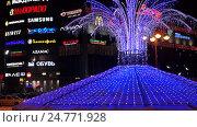 Световой фонтан. Рязань. Редакционное видео, видеограф Владимир Макеев / Фотобанк Лори