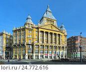 Купить «Дом страхового общества Anker в Будапеште, Венгрия», фото № 24772616, снято 5 декабря 2016 г. (c) Михаил Марковский / Фотобанк Лори