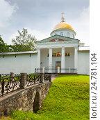 Купить «Свято-Успенский Псково-Печерский монастырь», эксклюзивное фото № 24781104, снято 28 июня 2016 г. (c) Владимир Чинин / Фотобанк Лори