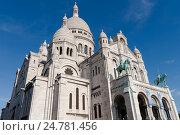 Купить «Базилика Святого сердца, Париж, Франция», фото № 24781456, снято 24 октября 2011 г. (c) Виталий Батанов / Фотобанк Лори