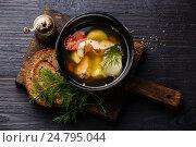 Купить «Рыбный суп», фото № 24795044, снято 29 декабря 2016 г. (c) Лисовская Наталья / Фотобанк Лори