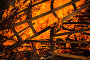 Closeup photo of burning wooden furniture, фото № 24798444, снято 1 октября 2016 г. (c) Евгений Сергеев / Фотобанк Лори
