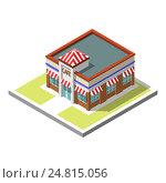 Изометрический значок 3d-здания. Стоковая иллюстрация, иллюстратор Алексей Плескач / Фотобанк Лори