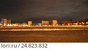 Купить «Замерзший Гольяновский пруд вечером в Москве», эксклюзивное фото № 24823832, снято 2 января 2017 г. (c) lana1501 / Фотобанк Лори