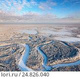 Купить «forest river in winter day», фото № 24826040, снято 18 января 2013 г. (c) Владимир Мельников / Фотобанк Лори