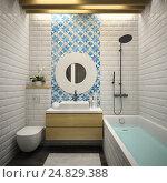 Купить «Интерьер современной ванной», иллюстрация № 24829388 (c) Hemul / Фотобанк Лори