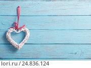 Купить «Valentine's day background with hearts», фото № 24836124, снято 7 января 2017 г. (c) Майя Крученкова / Фотобанк Лори