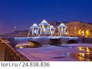 Мост Ломоносова. Санкт-Петербург, эксклюзивное фото № 24838836, снято 5 января 2017 г. (c) Литвяк Игорь / Фотобанк Лори