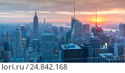 New York - DECEMBER 20, 2013: View of Lower Manhattan on Decembe. Редакционное фото, фотограф Elnur / Фотобанк Лори