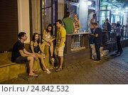 Купить «Odessa, Ukraine, young people from Kiev make a few days holiday in Odessa», фото № 24842532, снято 21 августа 2016 г. (c) Caro Photoagency / Фотобанк Лори