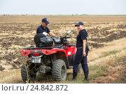 Купить «Tudora, Republic of Moldova, Border police Politia de Frontiera at the green border», фото № 24842872, снято 30 августа 2016 г. (c) Caro Photoagency / Фотобанк Лори