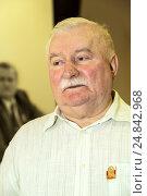 Pozna_, Poland, Lech Walesa, former President of Poland (2016 год). Редакционное фото, агентство Caro Photoagency / Фотобанк Лори