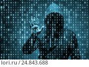Купить «Young hacker in data security concept», фото № 24843688, снято 20 января 2019 г. (c) Elnur / Фотобанк Лори
