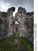 Купить «Развалины древнего Бзыбского храма в Абхазии», фото № 24847080, снято 25 сентября 2016 г. (c) Матвей Солодовников / Фотобанк Лори