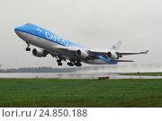 """Купить «Взлет """"Боинга 747""""», фото № 24850188, снято 3 августа 2007 г. (c) Air Nemo / Фотобанк Лори"""
