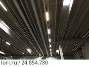 Купить «warehouse ceiling with lamps», фото № 24854780, снято 2 декабря 2015 г. (c) Syda Productions / Фотобанк Лори