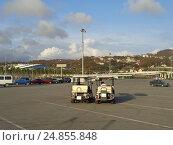 Купить «Электромобили и автомобили на бесплатной городской парковке Сочи», фото № 24855848, снято 12 ноября 2016 г. (c) DiS / Фотобанк Лори