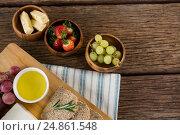 Купить «Gouda cheese, brown bread slices, lime juice and fruits», фото № 24861548, снято 16 сентября 2016 г. (c) Wavebreak Media / Фотобанк Лори