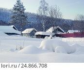 Зимний пейзаж. Село Анисимовка, Приморский край (2009 год). Стоковое фото, фотограф Римма Тельнова / Фотобанк Лори