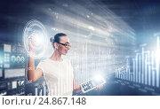 Купить «Using innovative technologies . Mixed media», фото № 24867148, снято 7 июня 2013 г. (c) Sergey Nivens / Фотобанк Лори