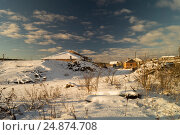 Winter landscape in rural terrain. Стоковое фото, фотограф Сергей Овчинников / Фотобанк Лори
