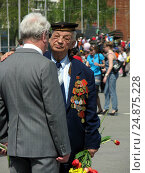 Купить «Ветераны», фото № 24875228, снято 9 мая 2011 г. (c) Светлана Кириллова / Фотобанк Лори