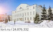 Купить «Здание Казанского университета. building of the Kazan University», фото № 24876332, снято 8 марта 2012 г. (c) Baturina Yuliya / Фотобанк Лори