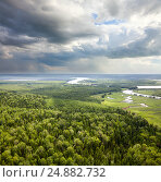 Forest plain with river, фото № 24882732, снято 5 июля 2011 г. (c) Владимир Мельников / Фотобанк Лори