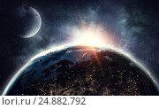 Купить «Our unique universe . Mixed media», иллюстрация № 24882792 (c) Sergey Nivens / Фотобанк Лори