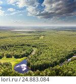 Forest plain with river, фото № 24883084, снято 5 июля 2011 г. (c) Владимир Мельников / Фотобанк Лори
