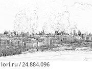 Купить «Экологическая проблема загрязнения окружающей среды и воздуха в крупных городах», иллюстрация № 24884096 (c) Евгений Ткачёв / Фотобанк Лори