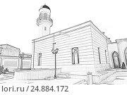 Джума-мечеть Гейдара в поселке Мардакан Хазарского района. Открыта в 1893 году. Баку. Азербайджан, иллюстрация № 24884172 (c) Евгений Ткачёв / Фотобанк Лори